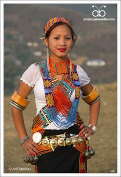 India | Portrait of a young woman from Longding District, Arunachal Pradesh, NE India | © Arif Siddiqui