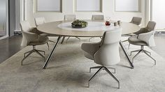 Coalesse Potrero415 table and Massaud Conference Seating create a setting where sharing social experiences and building trust go hand in hand.