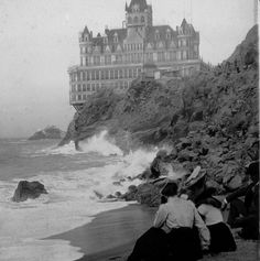cliff house, near san francisco. burned to the ground in 1907.