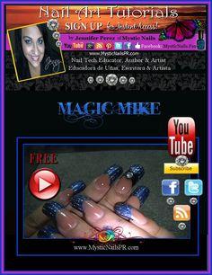 MAGIC MIKE Nail Art by Jennifer Perez of Mystic Nails ...................................... #nails #magic mike #mystic nails #puerto rico
