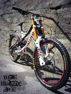 An awesome specialized downhill bike. You wont be feeling any bumps on a bike like this while riding a mountain bike track.