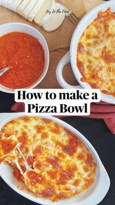 Low Carb Recipes, New Recipes, Snack Recipes, Cooking Recipes, Healthy Recipes, Pizza Bowl, Crustless Pizza, Healthy Pizza, Fast Easy Meals