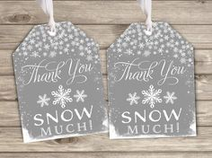 Favor Tags Baby its Cold Outside Baby Shower Thank You by cardmint