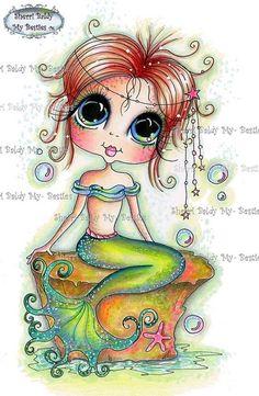INSTANT DOWNLOAD Digital Digi Stamps Big Eye Big Head Dolls NEW Bestie img041 Besties By Sherri Baldy