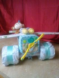 airplane diaper cake by HannahsBabies on Etsy, $65.00