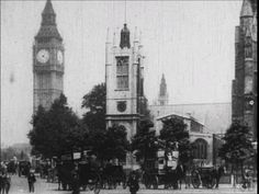 An old video of London, I really like this old film appearance.