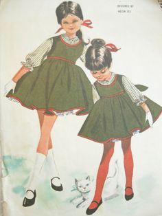McCalls 6462 1960s Helen Lee Girls Jumper Dress by EmSewCrazy