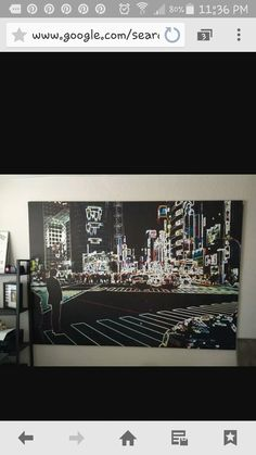 I have this giant tokyo canvas from ikea and I can't wait to decorate with this as the focus