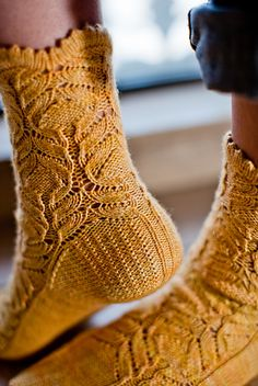 Ravelry: Chrysanthemum frutescens Socks pattern by Hunter Hammersen