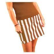 Women's Burnt Orange/White Fitted Skirt (ecampus.com)