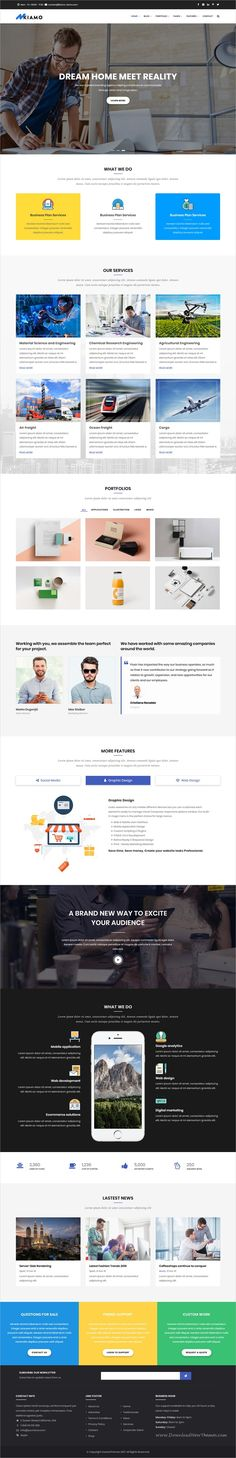 Kiamo is clean and modern #design multipurpose responsive #Drupal theme for #agency services website with 6 niche homepage layouts download now..