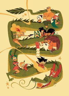 Page Dragon Ball Super Dragon Ball Gt, Chrono Trigger, Akira, Manga Dragon, Arte Nerd, Z Arts, Fan Art, Illustrations, Zine