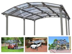 Metal-Garage-Carport-Canopy-Shelter-Single-Car-Aluminum-Shed-Kit-Cover-Outdoor