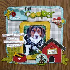 cute dog layout