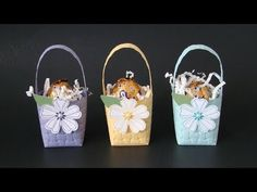 Qbees Quest: Easter Basket with Embossing Folders 2 Spring Projects, Easter Projects, Easter Crafts For Kids, Spring Crafts, Easter Decor, Easter Centerpiece, Bunny Crafts, Easter Table, Easter Party