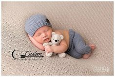 Victor Gray Knit Pants with Matching Hat, Newborn Pants Photography Prop, Knit Pants, Knit Hat, Baby Boy Props, Newborn Pants, Photo Props, Handmade Clothing
