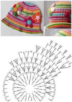 chapéu infantil com grafico