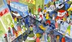Illustration by Bernardo P. Carvalho – from 'Follow the firefly / Run, rabbit, run'