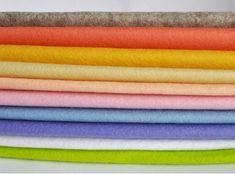 Items similar to Wool Felt Sheets - 10 pieces - 'Easter Bonnet' colour range on Etsy Felt Crafts, Paper Crafts, Diy Crafts, Scottish Salmon, Cloud Craft, Felt Squares, Felt Sheets, Needle Minders, Color Inspiration