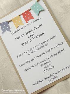 Annie - Handmade Rustic, Vintage, Shabby Chic, Wedding Invitation
