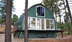 Prefabricated Arched Cabins can provide a warm home for under $10,000