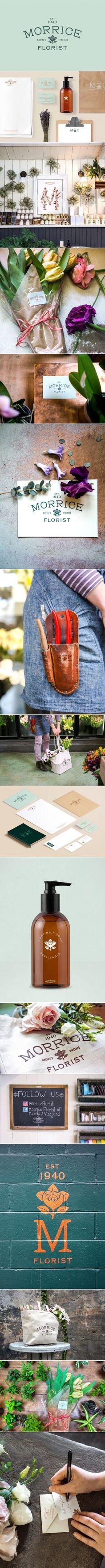 Morrice Florist: Branding by Bluerock Design.
