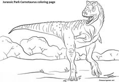 Coloring Online The Free Dinosaur Jurassic Park Carnotaurus