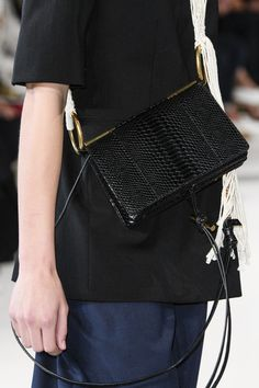 Stella McCartney at Paris Fashion Week Spring 2018 - Can We Please Have These Paris Runway Purses? Vegan Fashion, New Fashion, Womens Fashion, French Fashion, Paris Fashion, Dress With Jean Jacket, Stella Mccartney Bag, Country Dresses, Leather Crossbody Bag