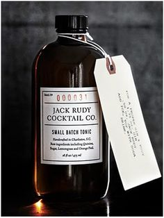 The Jack Rudy Tonic, created by  mixologist Brooks Retiz from FIG restaurant in Charleston.