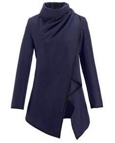 Stylish Zipper Design Asymmetrical Long Sleeve Jacket For WomenJackets | RoseGal.com