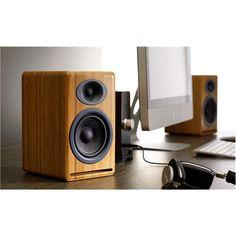 AudioEngine® P4 Premium Passive Bookshelf Speakers, Wooden