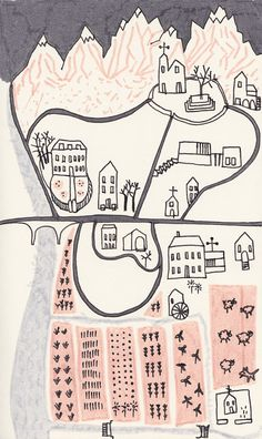 a weekend walk Illustration Print by AFrois on Etsy, €10.00