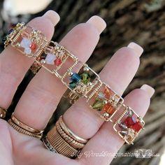 Story Teller Link Bracelet Wire Wrap von MyWiredImagination