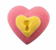 LUSH - NEW Love Locket bath bomb (10.90) The outside of the locket is full of paper hearts that will float out onto the surface of the water, while the hidden heart inside is laden with agar hearts to create a spectacular bath time display. Use each half and the inner heart individually (so 3 baths in total), or throw it all in the bath tub at once for a really decadent bath, enough to get any heart aflutter.