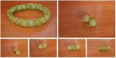 DIY bracelet tressé avec de grosses perles Tutoriel