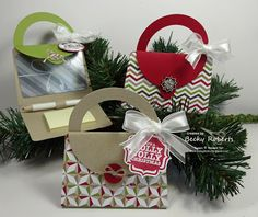 A place to share my love and addiction of rubber stamping with my equally addicted Stampin' Up! 11th Day Of Christmas, Christmas Craft Show, Stampin Up Christmas, Christmas Purse, Xmas, Gift Cards Money, Post It Note Holders, Scrapbooking, Craft Show Ideas