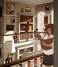 Matthieu Forichon captures perfectly the peaceful atmosphere of concentration in the Redwood Library for Rhode Island Monthly magazine. Love Art Images, Painting Prints, Art Prints, Paintings, Pascal Campion, Mood And Tone, Frou Frou, Visual Development, Character Design References