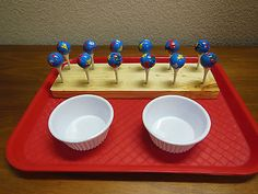 Montessori Practical Life Activity Fine Motor Placing Globes on Golf Tees | eBay