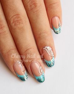 nail art french abstrait inspiration faux ongles Plus French Nail Art, French Tip Nails, Nail Designs Toenails, Nail Art Designs, Painted Nail Art, Acrylic Nail Art, Nail Art Kit, Nail Art Hacks, Cherry Nail Art
