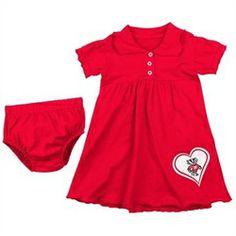 Alabama Crimson Tide Crimson Infant Preppy Dress and Bloomer Set Preorder free s/h Belted Shirt Dress, Tee Dress, Preppy Dresses, Alabama Crimson Tide, Alabama Baby, Alabama Football, Swagg, Elegant Dresses, Baby Dress