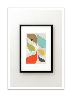 FLOW no.43 - Giclee Print - Mid Century Modern Danish Modern Style Minimalist Modernist Eames Abstract by Thedor on Etsy https://www.etsy.com/listing/162586381/flow-no43-giclee-print-mid-century