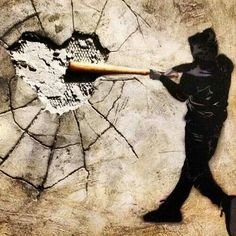 Banksy - break our hearts everyone breaks hearts hearts aren't shatter proof @﴾͡๏̯͡๏﴿ StreetART.blogspot.com #◄.nl FollowPics