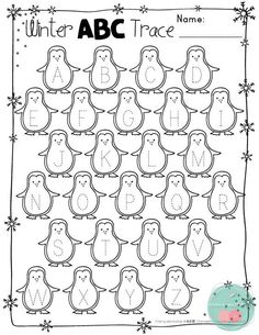 Winter Activities FREE Winter ActivitiesWinter Letter Tracing ActivitiesWinter Number Tracing Activities This pages can be a cute way to practice some letter and numbers tracing in the winter. Preschool Printables, Preschool Lessons, Preschool Learning, Kindergarten Worksheets, Kindergarten Literacy, Preschool Classroom, Classroom Activities, Pre K Activities, Learning Activities