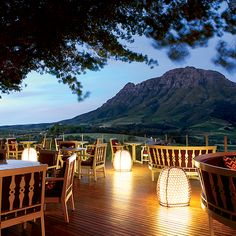 © Courtesy of Delaire-Graf Estate Wine Wednesday: Delaire-Graf Estate in South Africa features 10 super-luxurious private lodges with stunning views of the Stellenbosch vineyards. Here, more amazing winery inns. Country Hotel, Stunning View, Beautiful, Travel And Leisure, Great View, Cape Town, The Places Youll Go, Places To Travel, South Africa