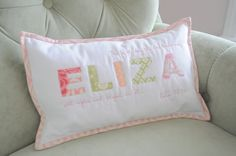 Make one for Mommy Daddy and Baby... Personalized and adorable. Will probably do pillow cases tho. Easy to wash and store.