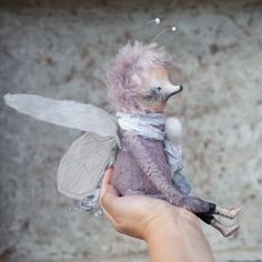 Купить Вуди - комбинированный, интерьерная кукла, интерьерная игрушка, с крыльями, крылья, крылья бабочки, бабочка