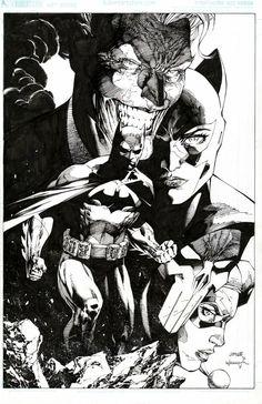 Catwoman Comic, Batman And Catwoman, Batman And Superman, Comic Books Art, Comic Art, Jim Lee Batman, Michael Caine Batman, Jim Lee Art, Batman Artwork