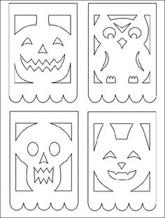 Patterns Posts Related To Printable Papel Picado Template For Kids Kalender 2019 Psd Moldes Halloween, Manualidades Halloween, Holidays Halloween, Halloween Crafts, Holiday Crafts, Happy Halloween, Fall Crafts, Halloween Decorations, Halloween Printable