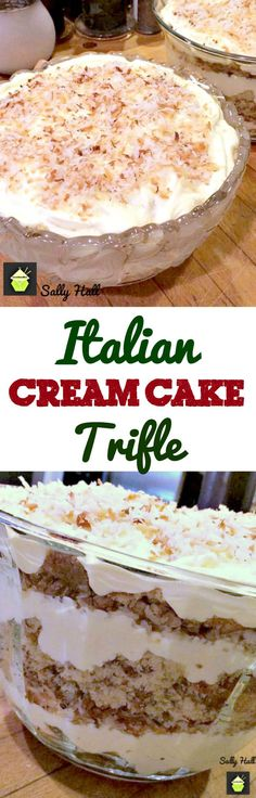 Trifle, this is the most amazing trifle! Layers of classic fluffy Italian Cream…