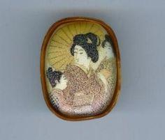 Japanese Women Brooch